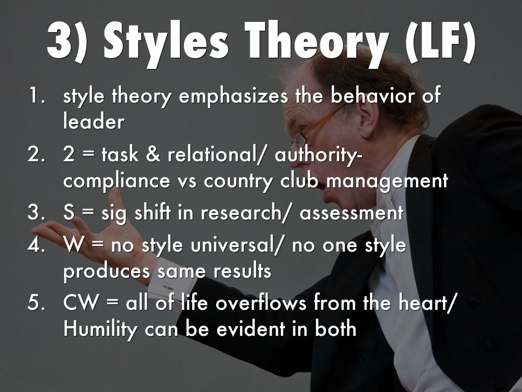 LEADERSHIP THEORY by Neal Ledbetter