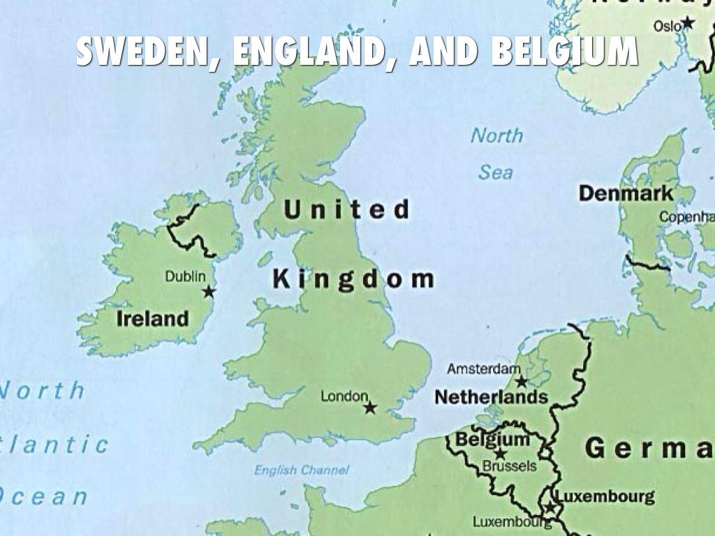 Sweden England And Belgium By Joe Mccomb
