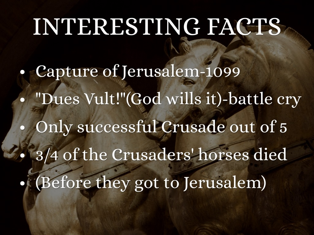 the success of the first crusade The crusades were military or quasi-military expeditions launched by christian  secular and religious  no future crusade was to enjoy the success of the first.
