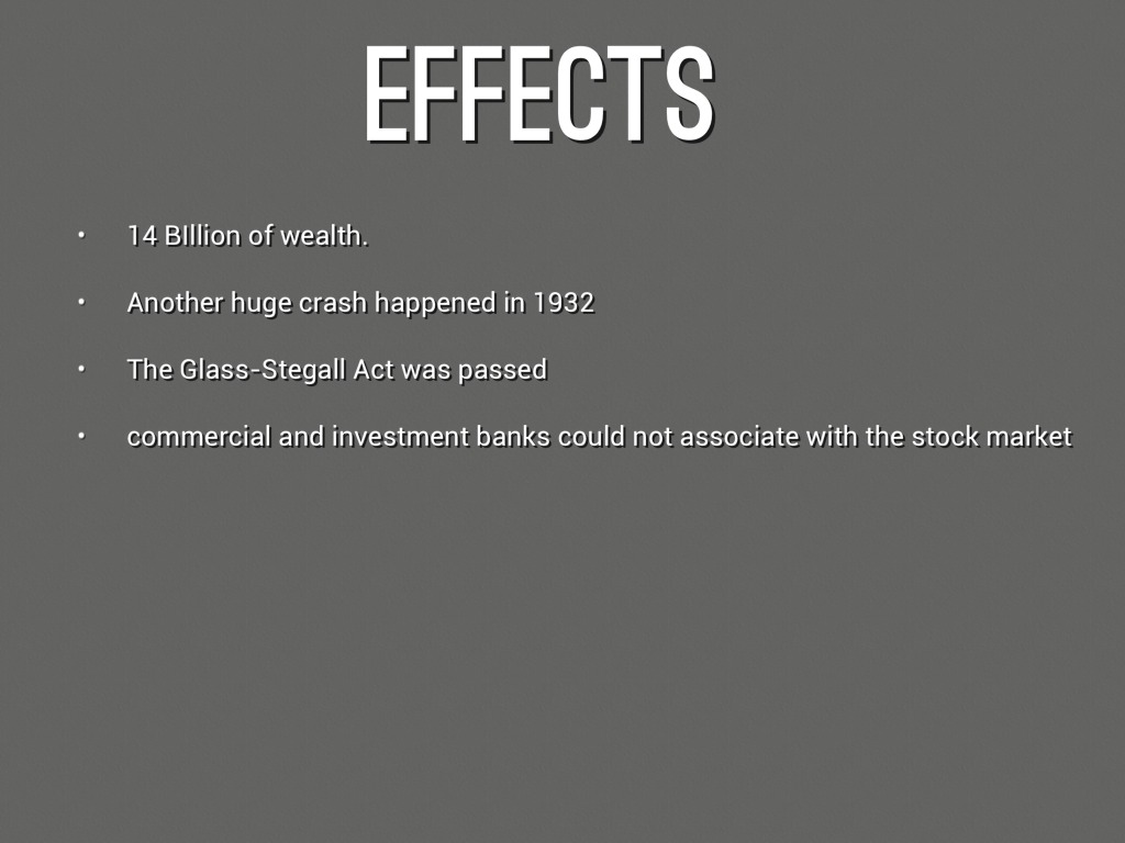 causes of the wall street crash In finance, black monday refers to monday, october 19, 1987, when stock markets around the world crashed the crash began in hong kong and spread west to europe, hitting the united states after other markets had already sustained significant declines.