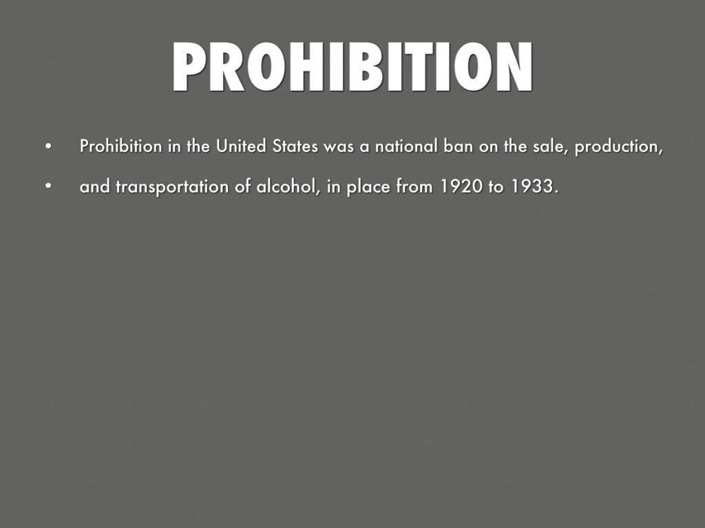 the failure of prohibition in the united states Prohibition proved to fail because the 18th amendment was nearly  emory r  buckner, a united states attorney for the southern district of new york stated,.