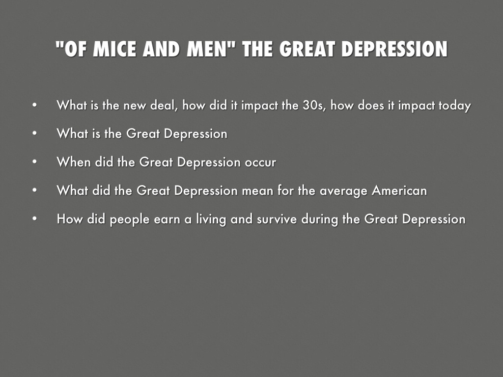 of mice and men and the great depression