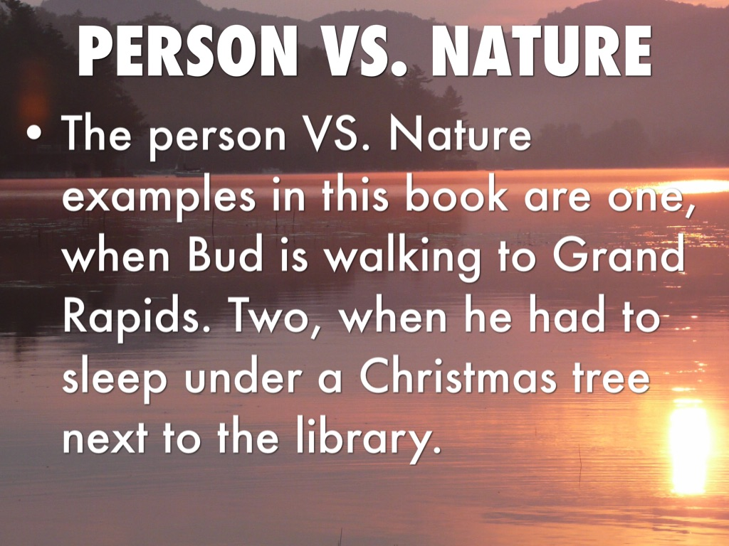 man vs nature examples