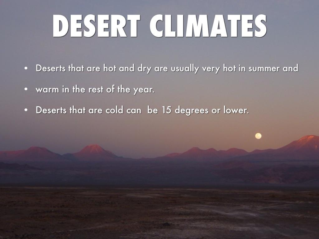 Hot and dry desert