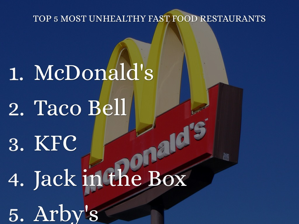 Most Unhealthy Fast Food Restaurants