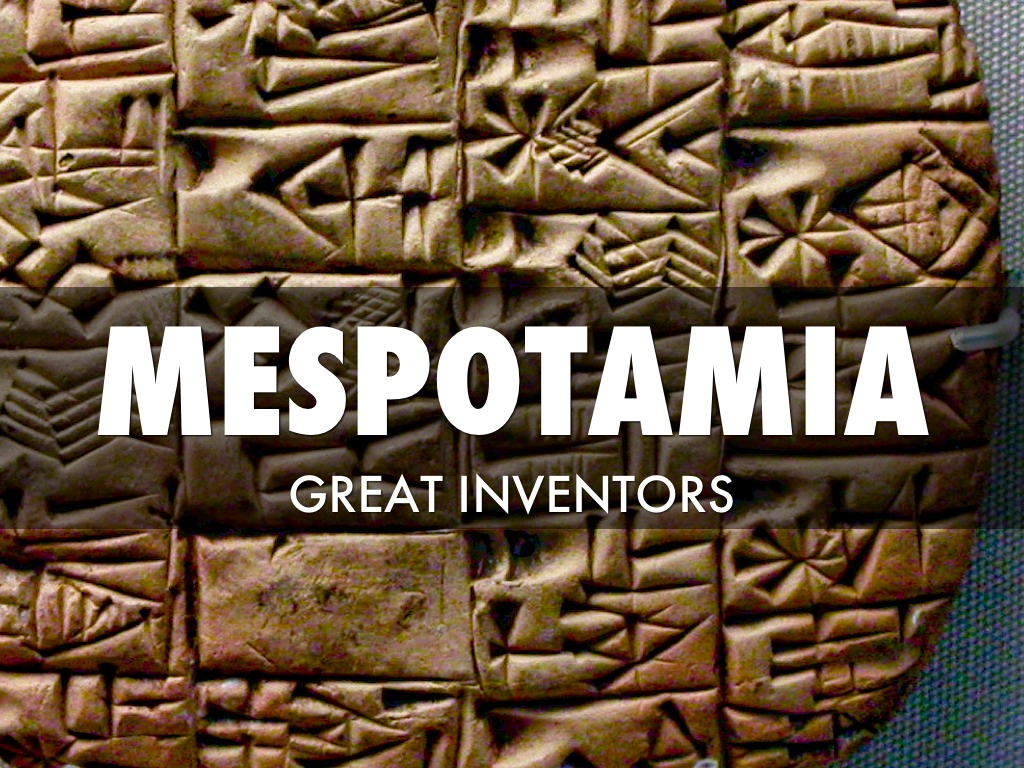 Mesopotamian Inventions by Cole Hilton