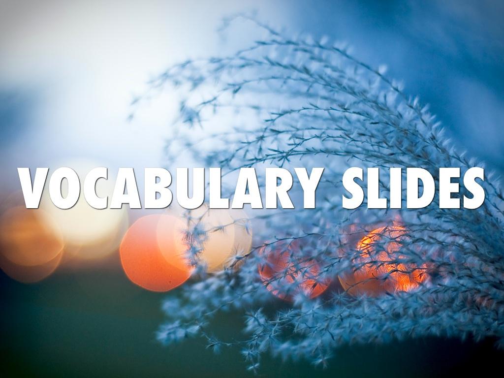 Vocabulary Slides Choir