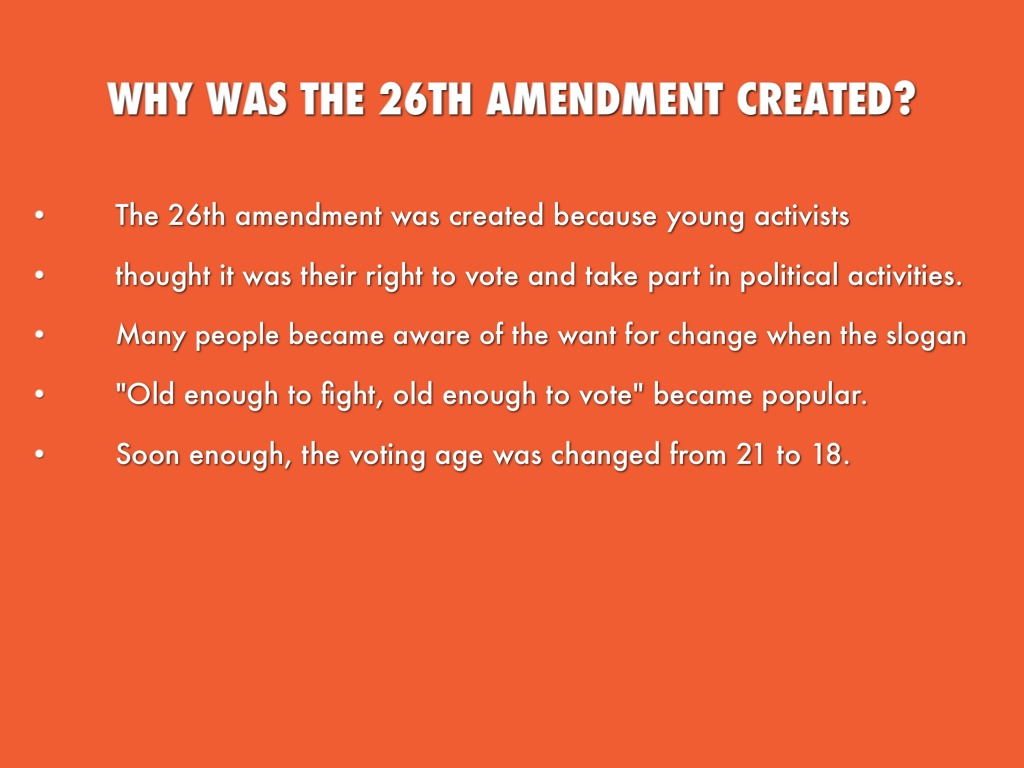 what was the purpose of the 26th amendment