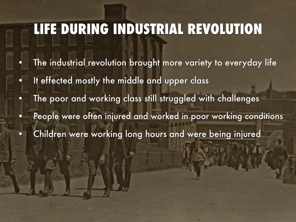 working conditions for children during industrial Negative effects on women during the industrial revolution in both england and the united states, women often worked in unsafe and unsanitary working conditions, as factory work was not initially regulated by the government.