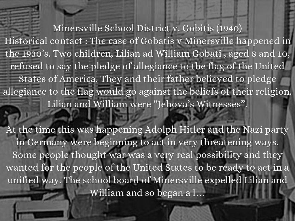 minersville school district v gobitis case brief