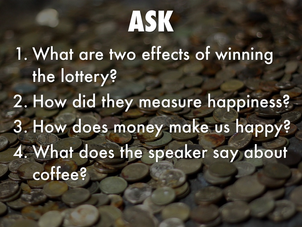 effects of winning the lottery essay The commercials hit home because fantasizing about winning the lottery activates the same parts of our brains that would be activated if we actually won.