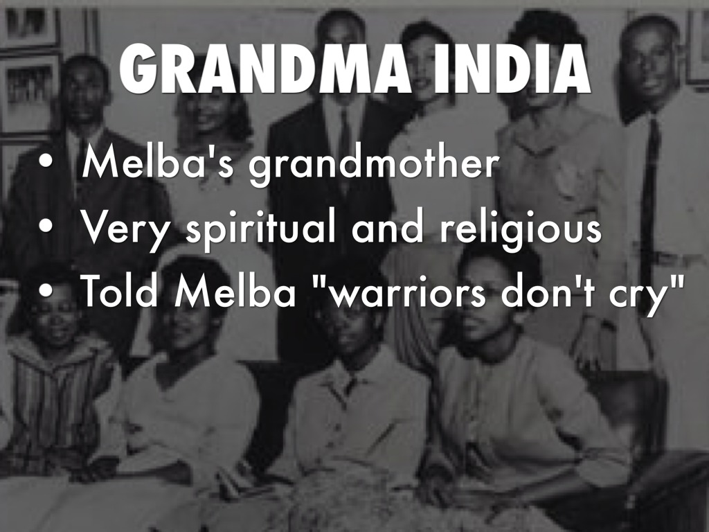 Where did Melba first experience racism in Warriors Don't Cry?
