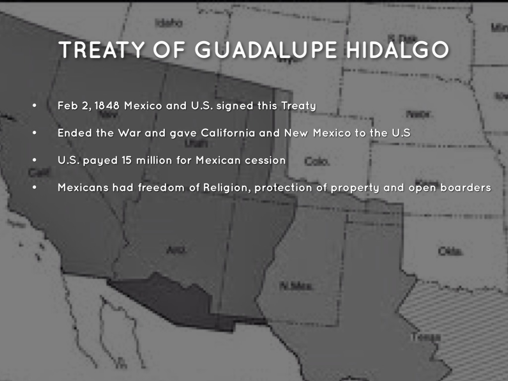 the treaty of guadalupe hidalgo the treaty The controversial mexican-american war lasted from 1846-1848 in this lesson, discover how the treaty of guadalupe hidalgo expanded the southern.