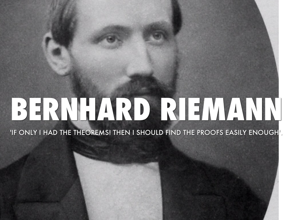 bernhard riemann thesis Henri lebesgue was born on 28 june 1875 in beauvais,  in 1902 he earned his phd from the sorbonne with the seminal thesis on integral,  and bernhard riemann.