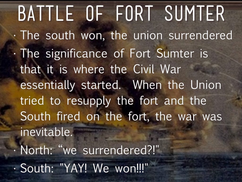 the significance of fort sumter in the civil war