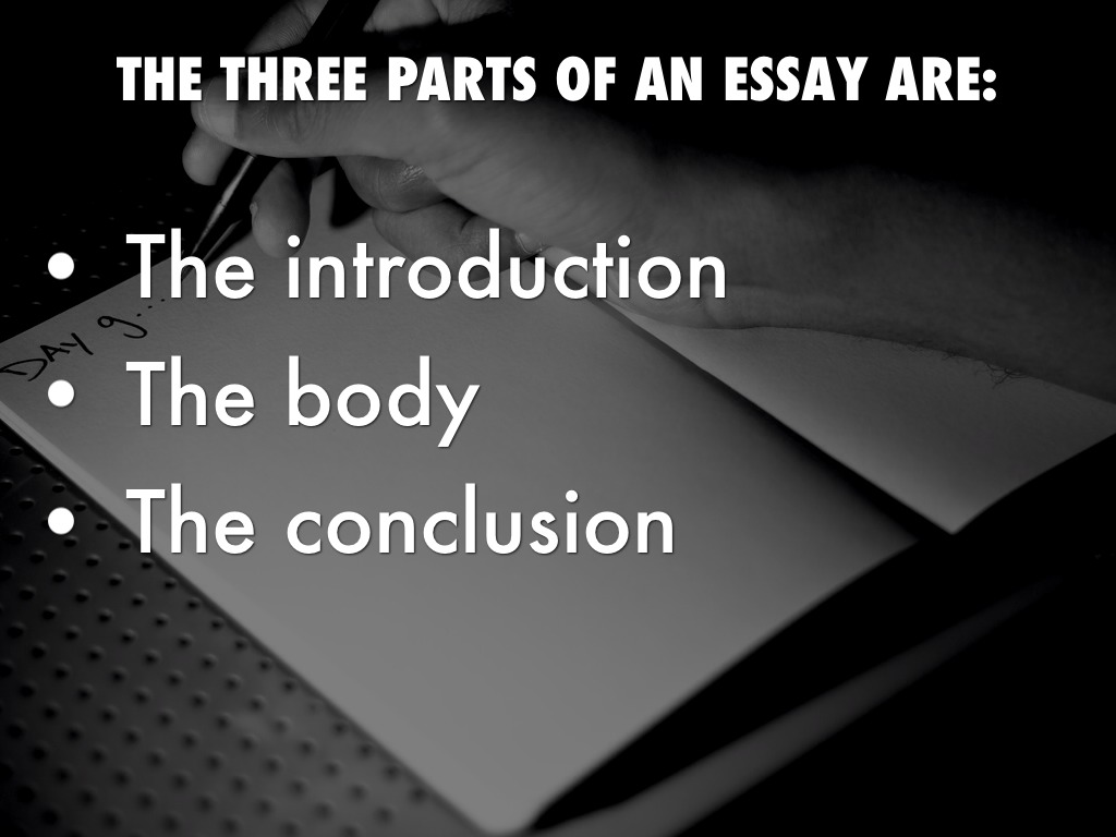 essay notes by heather palmer the three parts of an essay are