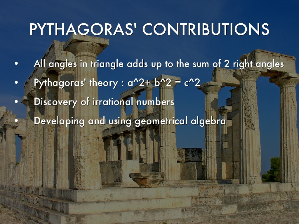 ancient greeks contributions