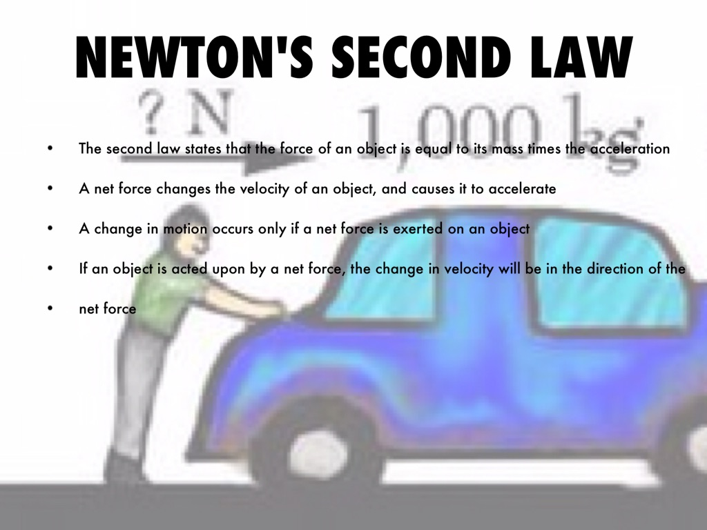 newtons second law 5/15/14 1 newton's second law • explain the effect of a net force on motion using the concept of acceleration • calculate acceleration in units of m/s2 when.