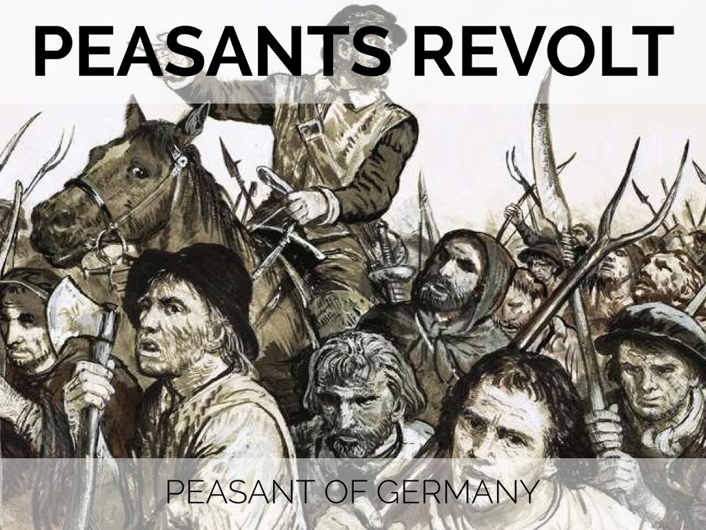 the peasant's revolt in the german More essay examples on martin luther king rubric martin luther is remembered as the father of protestantism, a man, who fiercely combated injustice and hypocrisy of the catholic church during late middle ages and early renaissance - martin luther and peasants revolt in germany in 1524-1525 essay introduction.