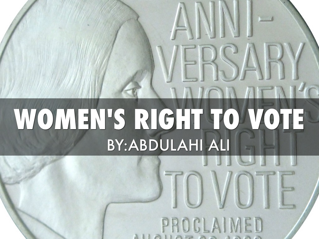 on womens right to vote by