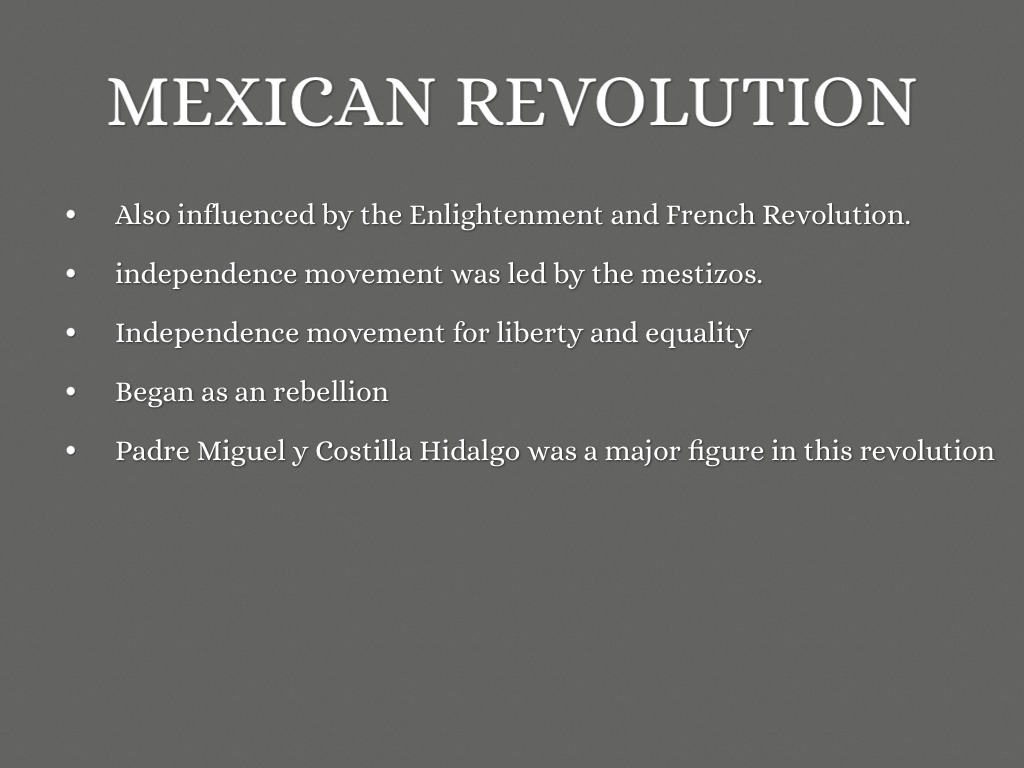 a comparison of the motivation and purpose of the haitian and mexican independence movement Cultural history of romanticism historically, the romantic era is sometimes called the age of revolution from the french revolution (1789-99) and the american revolution (1775-83), the haitian revolution (1791-1804), and subsequent revolutions in europe and latin america (including the war for mexican independence, 1811-21.