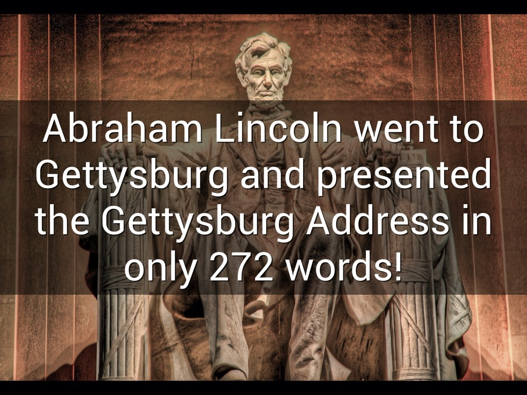 abraham lincoln gettysburg address © abraham lincoln online: lincoln at gettysburg lincoln at gettysburg photo tour lincoln and we now call lincoln's speech the gettysburg address as if it.