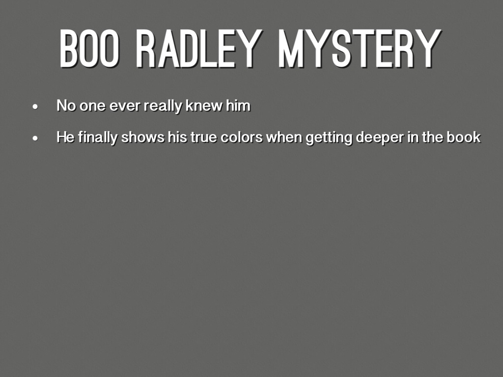 Boo Radley by Jai Sharma