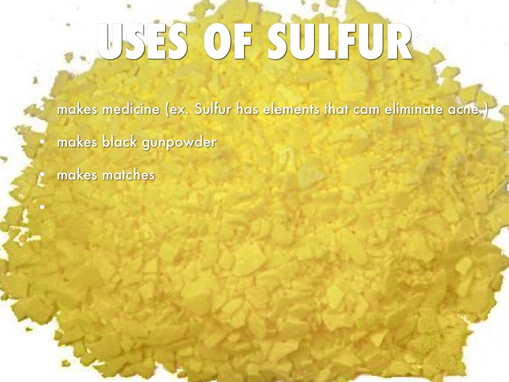 Uses Of Sulfur Sulfur by Anna Solomon