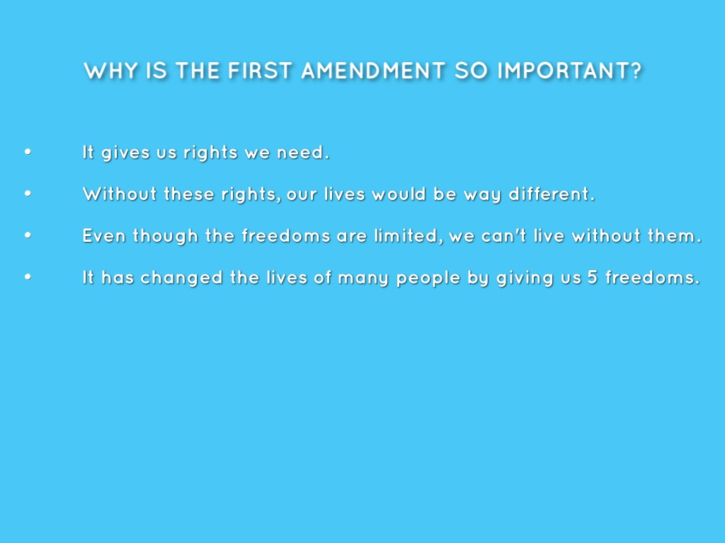 essay on first amendment