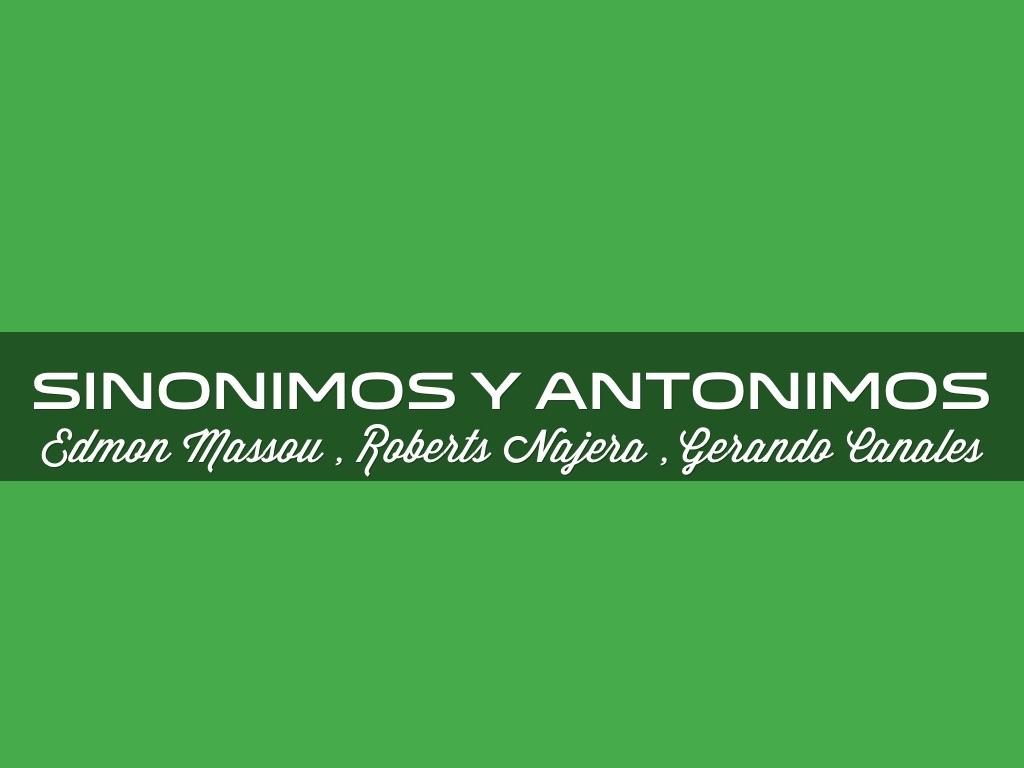 Artesanato O Que É ~ Sinónimos Y Antonimos by Roberts Najera