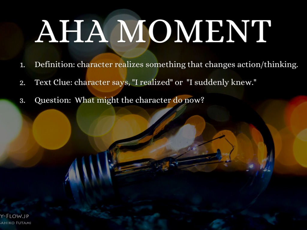 aha moment a221 The aha moment is when suddenly that student stepped beyond just playing the notes written on the page, and started to play music you become a musician when the.