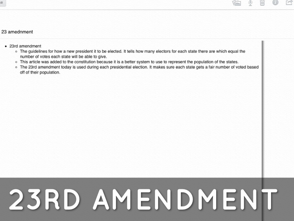Amendments 23-27 by Patrick Burke