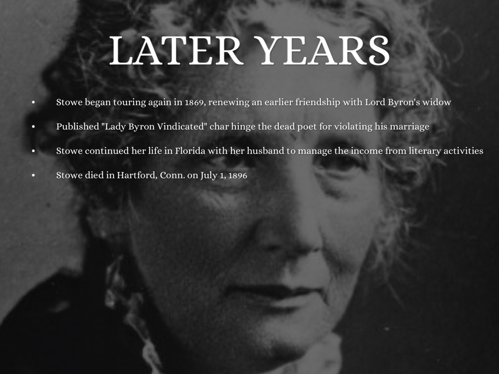 harriet beecher stowe paper Project gutenberg's household papers and stories, by harriet beecher stowe this ebook is for the use of anyone anywhere at no cost and with almost no restrictions whatsoever.