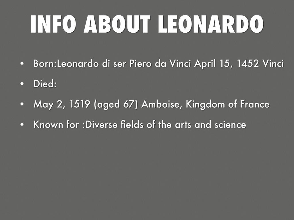 Leonardo Davinci Facts by Monti Almatani