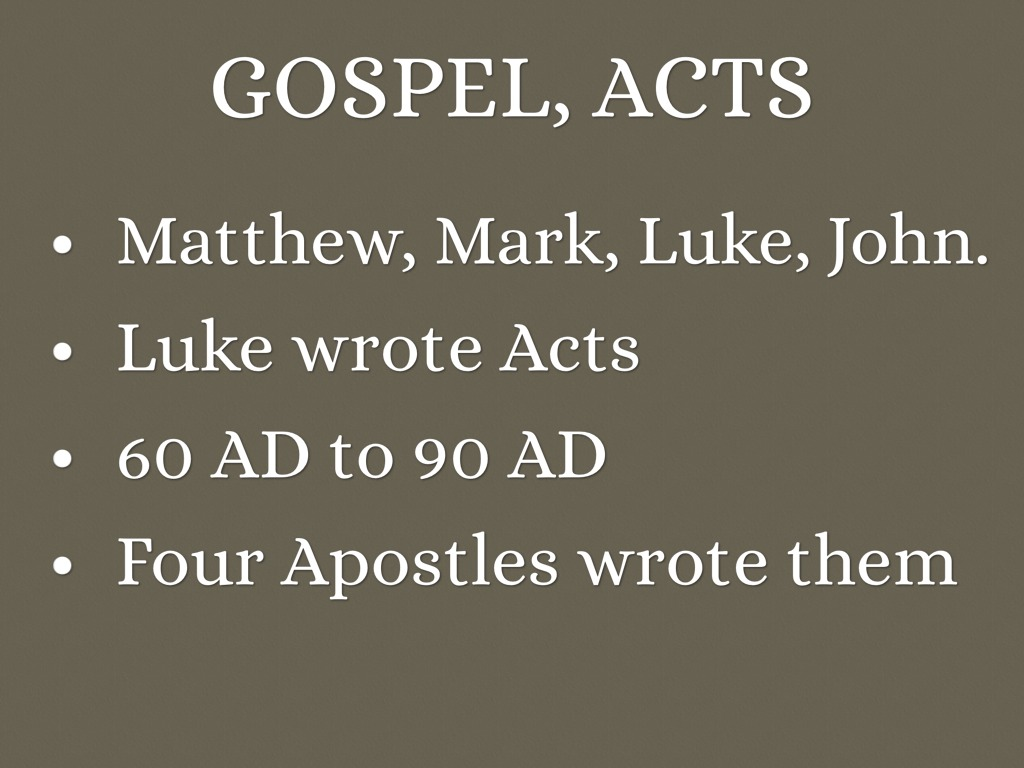 matthew mark luke and john gospels on jesus The story of jesus comes to us from four different authors, matthew, mark, luke, and john, written over a period of nearly seventy years the message and uniqueness of jesus remain the same, but each author tells the story from his perspective and for his purpose.