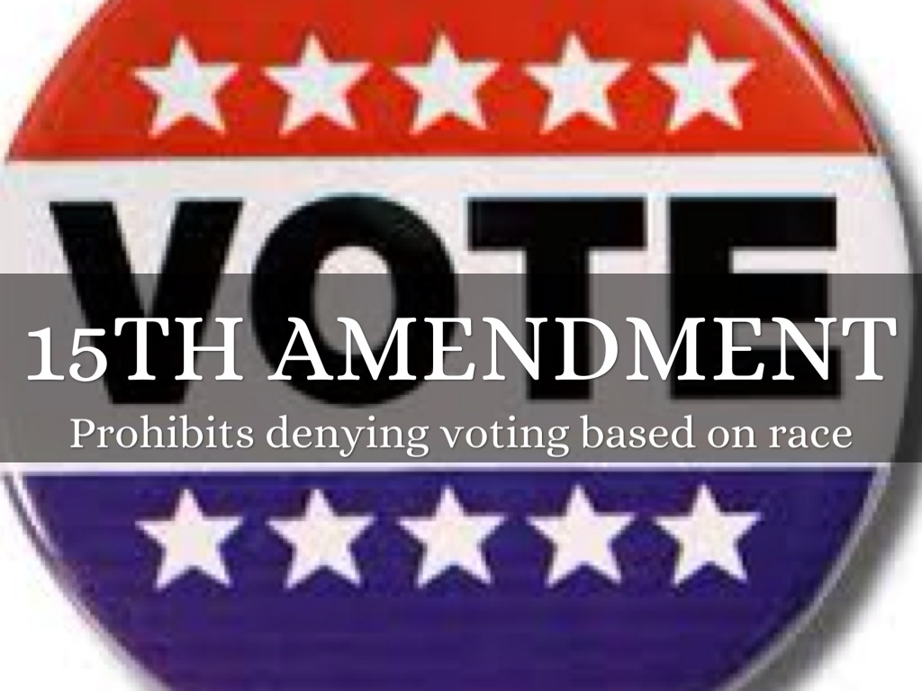 15th amendment papers term The fifteenth amendment (amendment xv) to the united states constitution prohibits the federal and state governments from denying a citizen the right to vote based on.