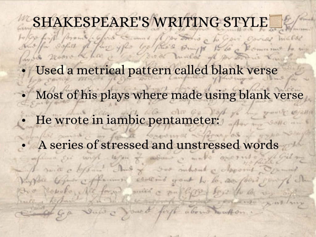 Shakespeare's style of writing