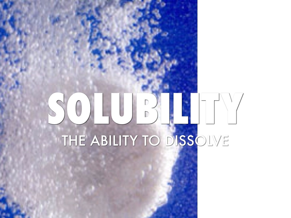 Solubility Science on Chemistry Test Grade