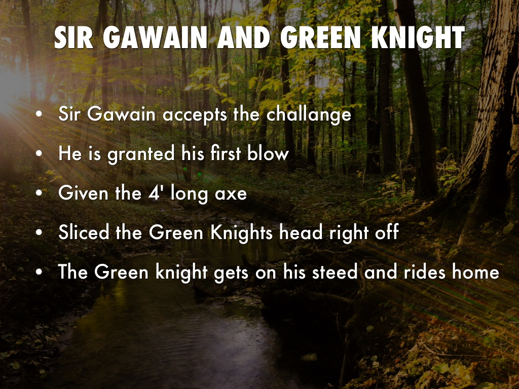 a research on sir gawain and the green knight