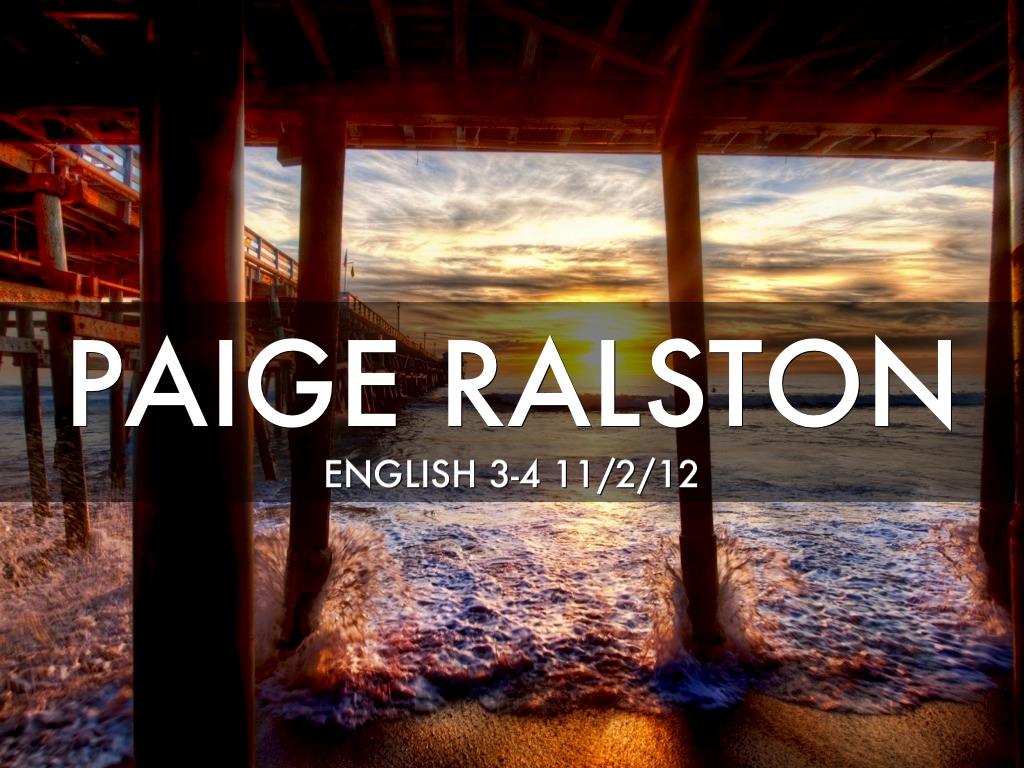 English Aphorism By Paige Ralston