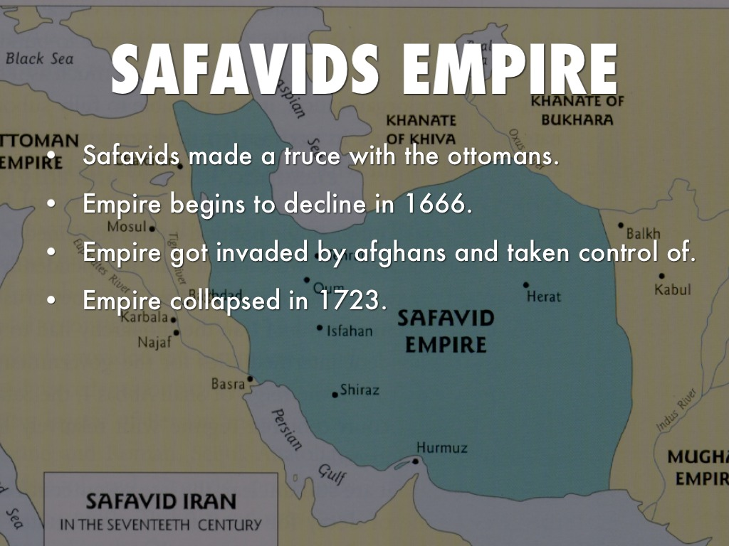 ottoman and safavid empires The ottoman empire was an imperial state that was founded in 1299 after growing out of the break-down of several turkish tribes the empire then grew to include many areas in what is now present-day europe to and it eventually became one of the largest, most powerful and longest-lasting empires in the history of the world.