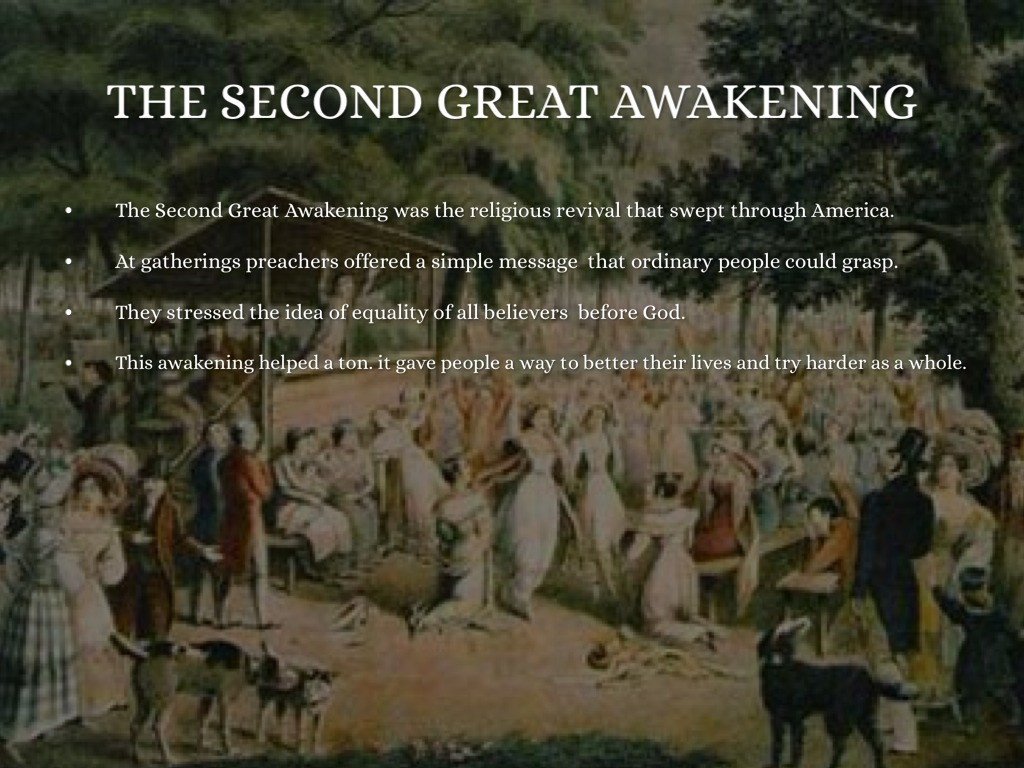effects of the second great awakening Institutionalizing religious belief: the benevolent empire the breadth and success of the second great awakening meant that it had multiple dimensions.