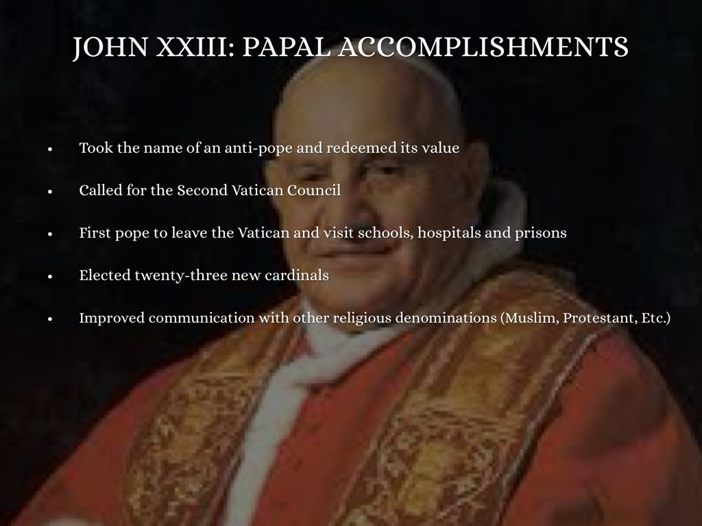 accomplishments of the second vatican council Challenges the church faced after the second vatican council were: the disagreements on the change in the find study resources main menu by school by subject by book some of the major achievements of the second vatican council were: a renewed embracing of god's word found in the.