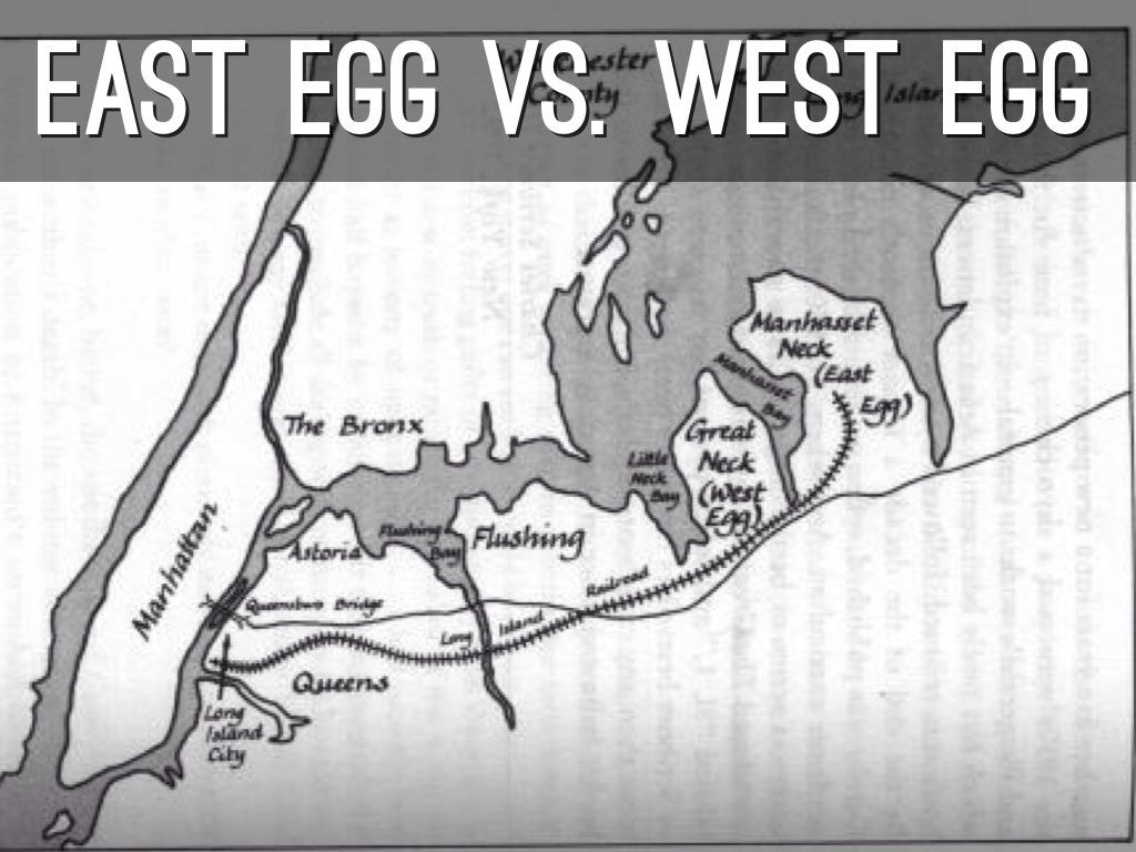 east egg vs west egg