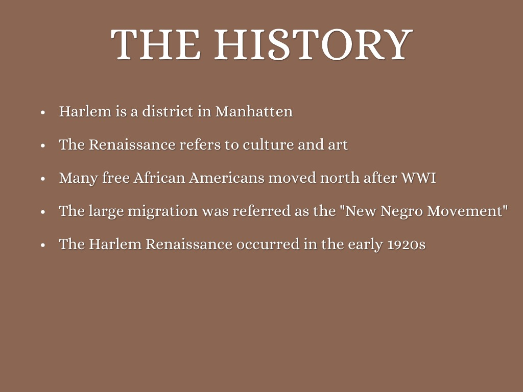 an overview of the harlem renaissance an african american cultural movement