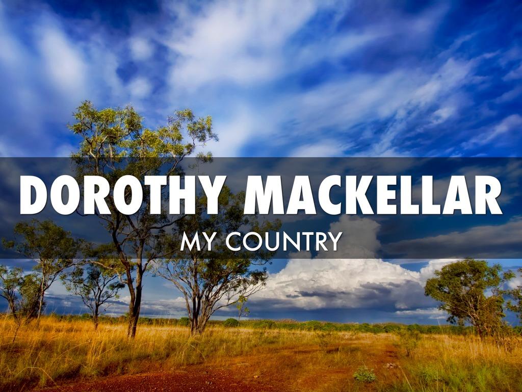 my country dorothea mackellar analysis