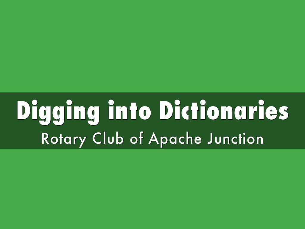 Digging into Dictionaries