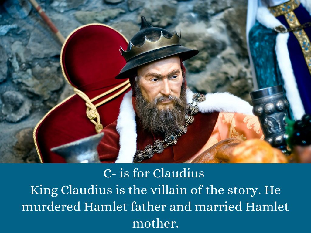an analysis of king claudius in the book hamlet Hamlet book report main characters hamlet  after the first king's death, she marries claudius about two months later  plot analysis hamlet talks about suicide .