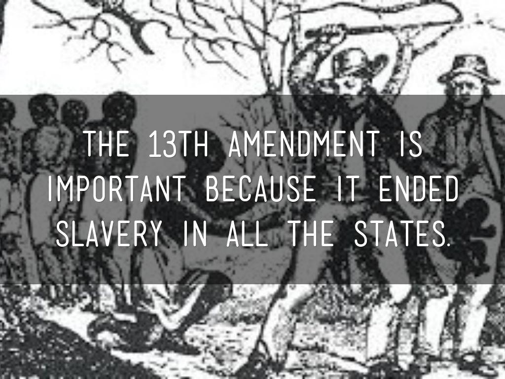 13th Amendment by Abbie Moore