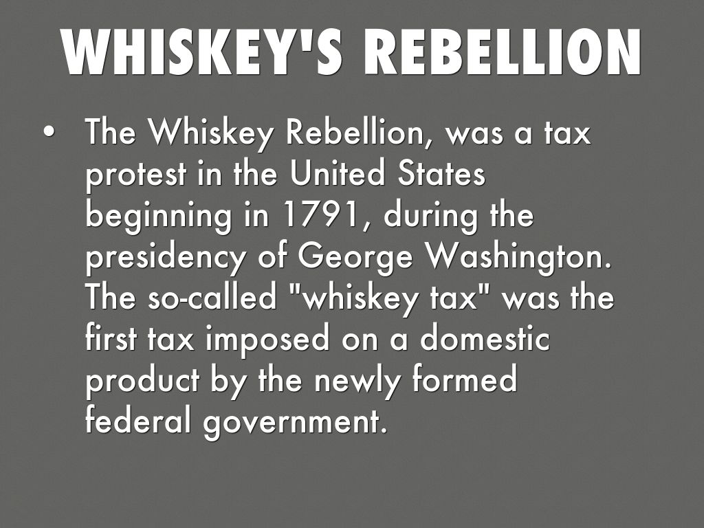 the whiskey rebellion and the rise of the democratic republican government States for political organization and government whiskey rebellion in july 1794, the democratic society of democratic-republican societies.
